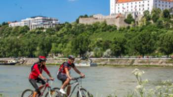 Cycling in beautiful Bratislava