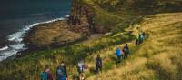 Walking single file along the green cliffs of England on the Coast to Coast | Tim Charody