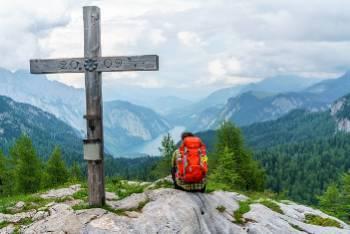 Enjoying the view in the Berchtesgaden UNESCO biosphere region&#160;-&#160;<i>Photo:&#160;Anita Brechbühl</i>