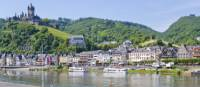 The town of Cochem on the Moselle River