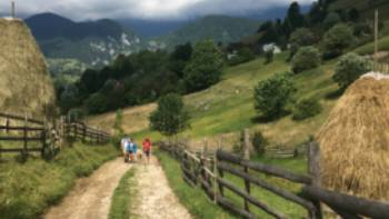 Walkers in Translyvania enroute to Bran Castle | Kate Baker