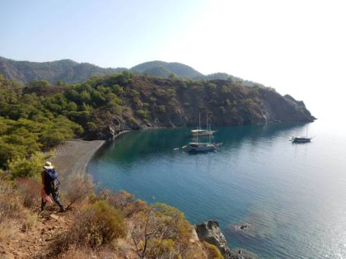 Coastline along the Lycian Way to Cirali&#160;-&#160;<i>Photo:&#160;Lilly Donkers</i>