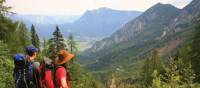 Looking down into the Gosau valley, Austria