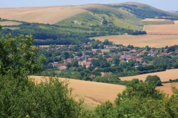 Alfriston, on the South Downs Way, England