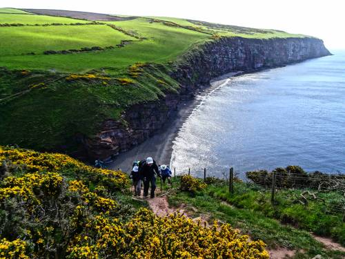 Ascending Fleswick Bay on the Coast to Coast near St Bees&#160;-&#160;<i>Photo:&#160;John Millen</i>