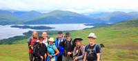 Group by Loch Lomond and The Highland Fault, Scotland