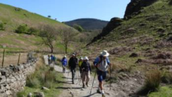 Hikers making their way through Nanny Catch | John Millen