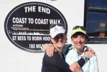 Happy hikers at the end of the Coast to Coast Trail in Robin Hood's Bay&#160;-&#160;<i>Photo:&#160;John Millen</i>