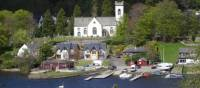 Quaint village of Kenmore on Loch Tay, Scottish Highlands