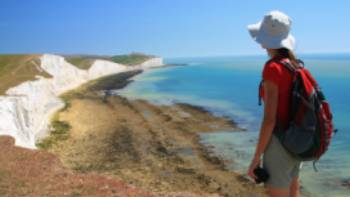 Looking towards the Seven Sisters, South Downs Way