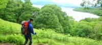Walking above Loch Lomond, Scotland