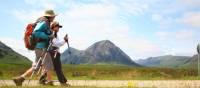 Walking beside Buachaille Etive Mor, Scotland