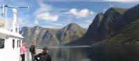 On deck on the Aurlandsfjorden Ferry | John Millen