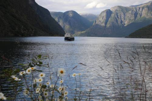 Aurland Ferry on the Aurlandsfjord&#160;-&#160;<i>Photo:&#160;John Millen</i>