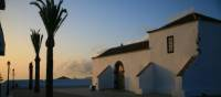 Dusk at the mountain village of Chipude in La Gomera