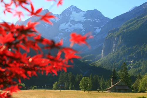 View from the hotel in Kandersteg